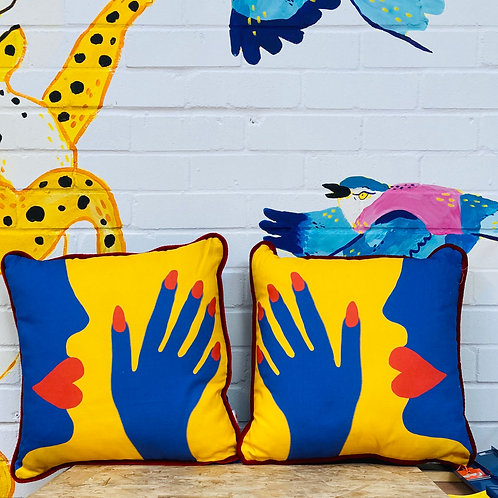 Pair of 'Pillow Talk' Cushions