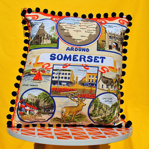 Up - Cycled Tea Towel Cushion - Somerset