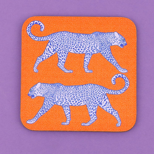 Leopard Coaster - Orange