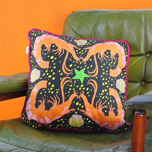 Crustacean Cushion -  Black