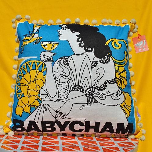 Babycham Cushion - Art Nouveau