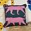 Thumbnail: Pink/Teal Leopard Cushion
