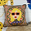 Thumbnail: Funky Lady Print Cushion - teal