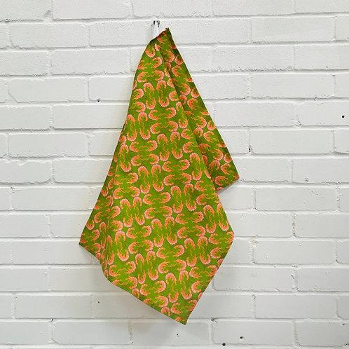 Prawns from La Línea  Tea Towel