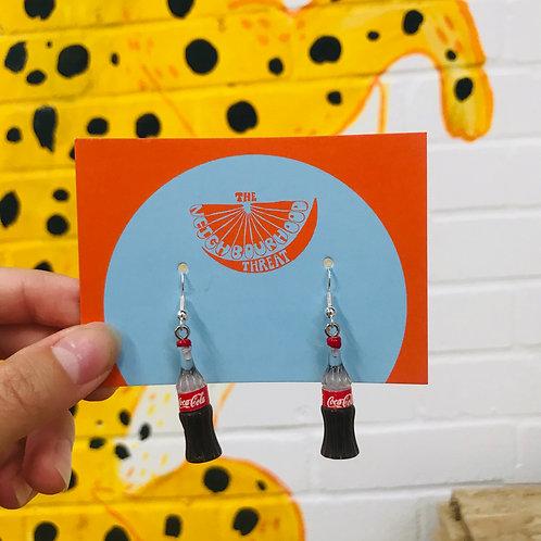 Coca Cola Earrings