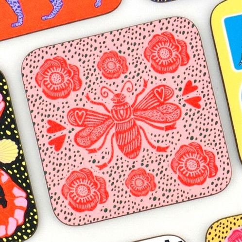 Pink Bee Coaster