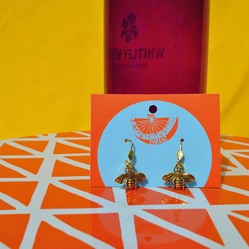 Manchester Bee Earrings - Gold