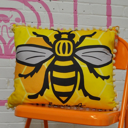 Large Manchester Bee Cushion