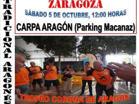 Final XII campeonato Aragón y III Trofeo de la Corona de Aragón de morra 2019 (Saragossa)
