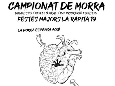 XXXVII Campionat de Morra de Festes Majors 2019
