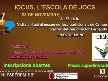 Iocus, l'escola de jocs. Novembre 2020