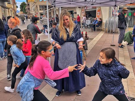 Taller de Morra infantil a la festa del Mercat a la plaça d Amposta 2019