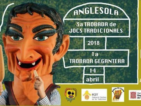 3a Trobada de Jocs Tradicionals de Catalunya a Anglesola (14 d´abril 2018)