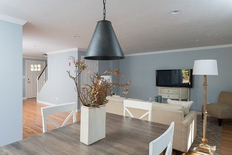dining area leading to living room