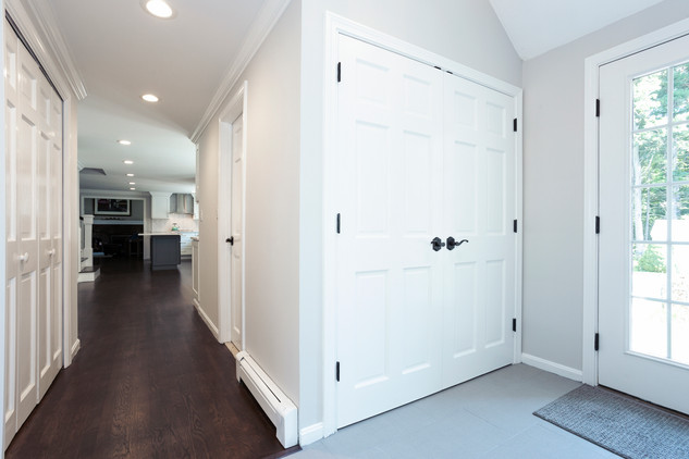 mudroom entryway renovated to match kitchen