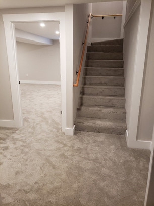 finished basement entry