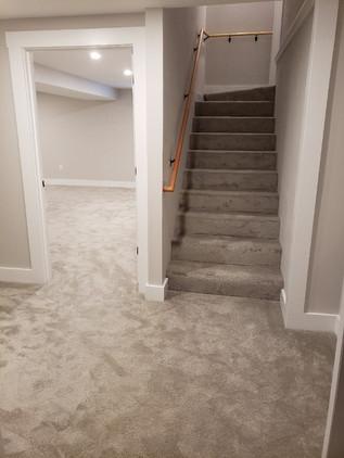 finished basement entry