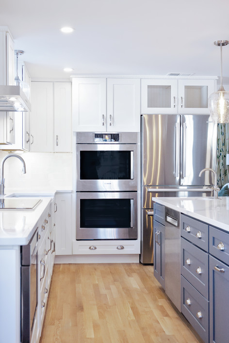 custom designed kitchen with double oven