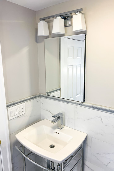 freestanding sink and console