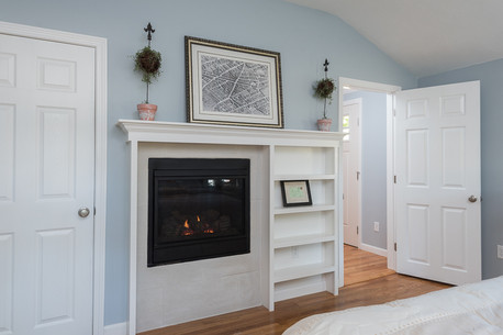 custom built in fireplace