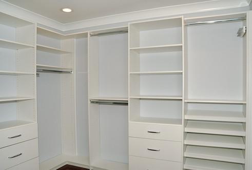 custom built master bedroom closet