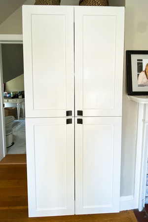 custom built laundry cabinet