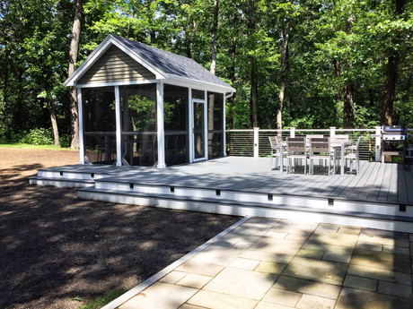 custom deck and gazebo