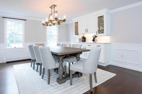dining room featuring farmhouse chandelier