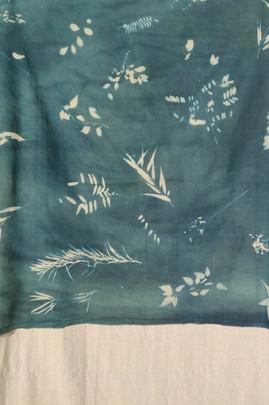 Cyanotype Cotton Scarf