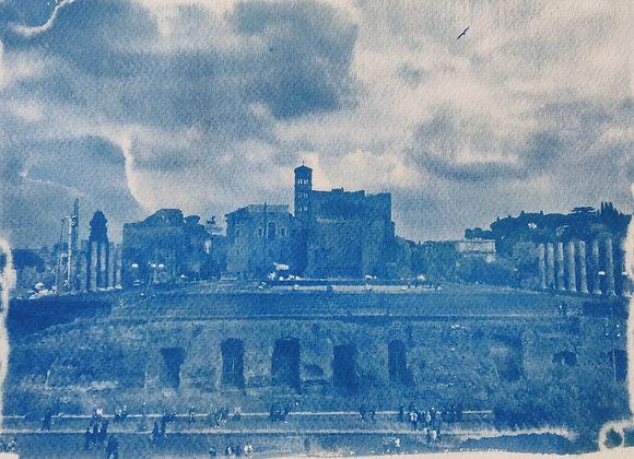 Rome Cyanotype Photograph