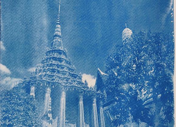 Wat Pho, Bangkok Cyanotype