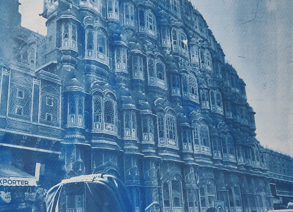 Hawa Mahal Cyanotype Photograph