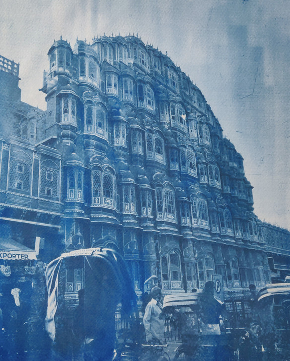 Hawa Mahal Cyanotype
