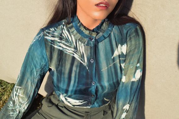 Cyanotype Shirt in Cotton