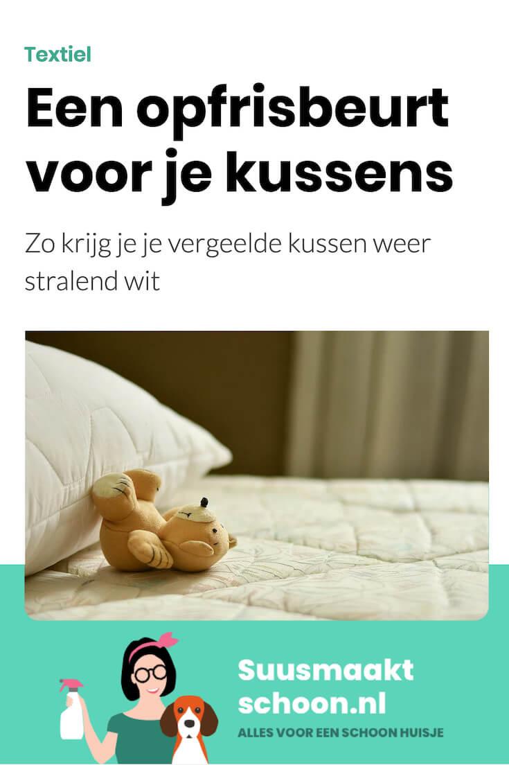 suusmaaktschoon.nl - suus maakt schoon - kussens wassen -  hoofdkussen wassen - hoofdkussen wit maken - hoofdkussen schoonmaken - hoofdkussen reinigen - hoofdkussen opfrissen - vergeelde hoofdkussens - vergeelde kussens