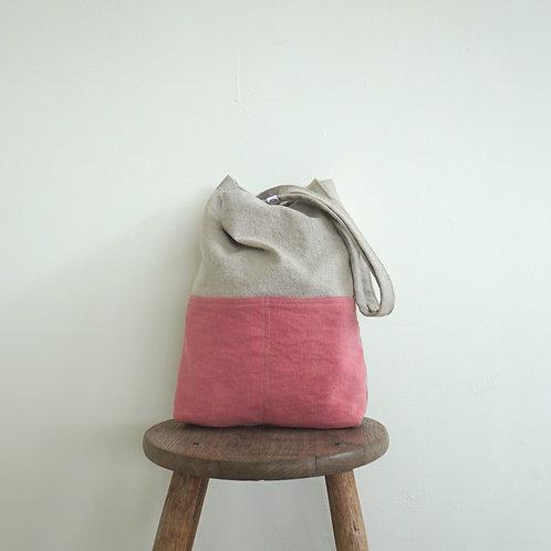 Linen Tote in Bubblegum Pink