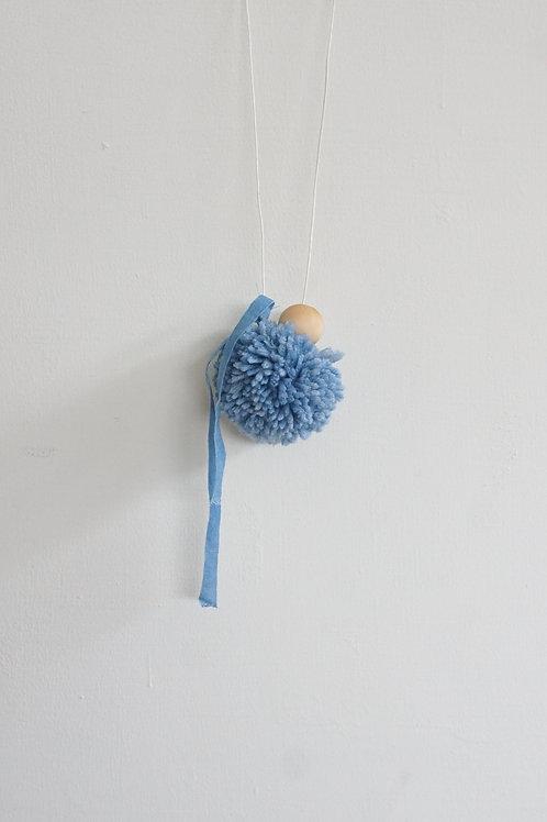 Wool & Bead Necklace - Sky Blue