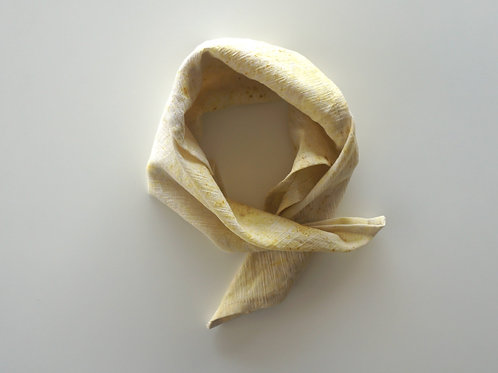 Cotton Head Scarf - Speckled Yellow