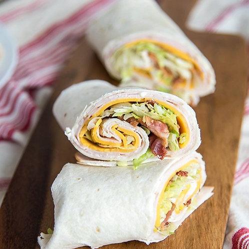Turkey Swiss and Bacon Wrap