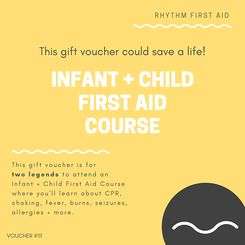Gift Voucher - Infant + Child First Aid Course - Double Pass