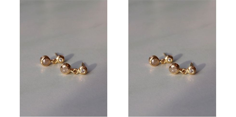 Double diamond earring, mix