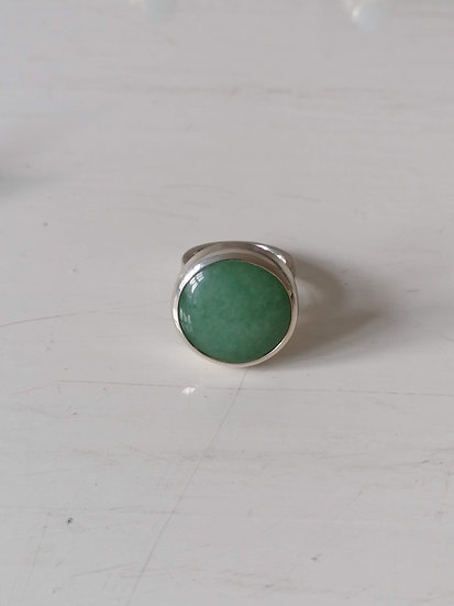 Big bubble ring with aventurine