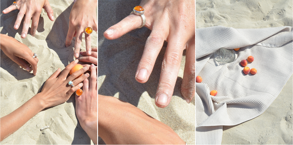 Basic ring with amber