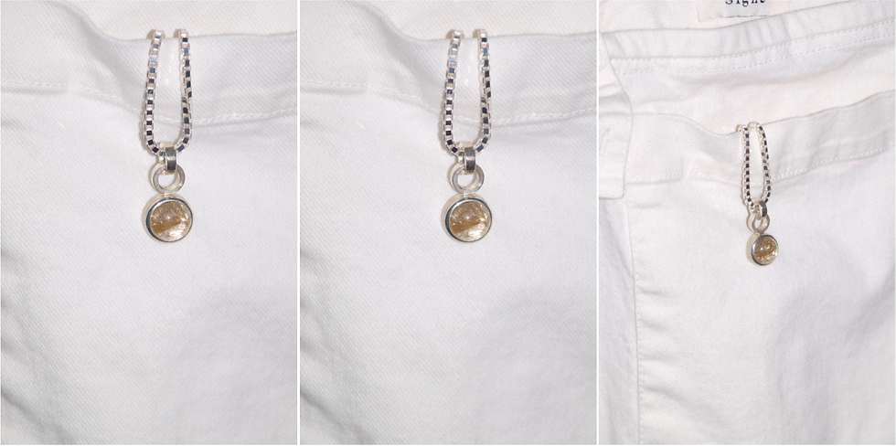 Basic pendant with rutilated quartz