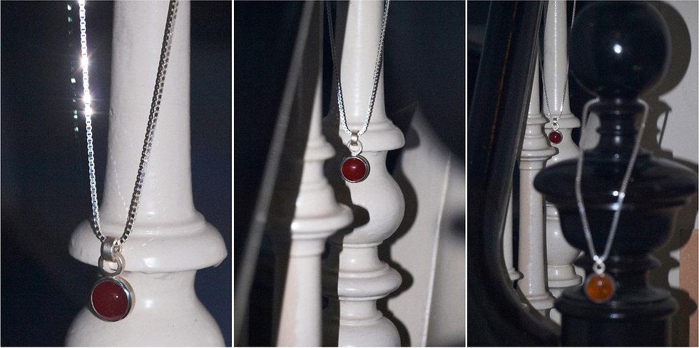 Basic pendant with carnelian