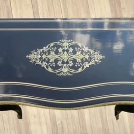 Table à jeux d'époque 19eme après restauration