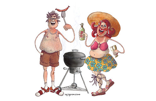Barbecue couple