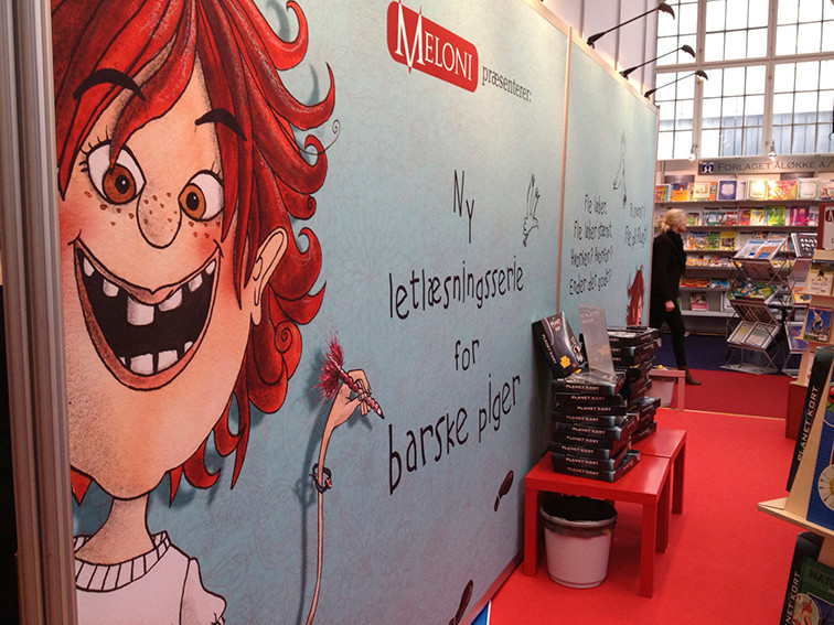 Forlaget Meloni messe stand