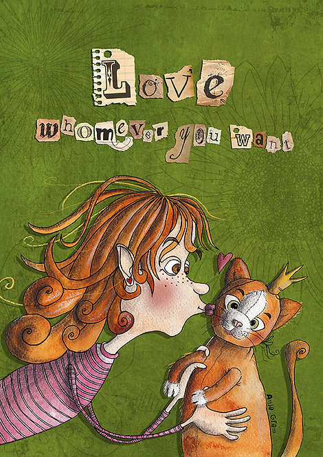 """""""Love whomever you want"""" teddy"""