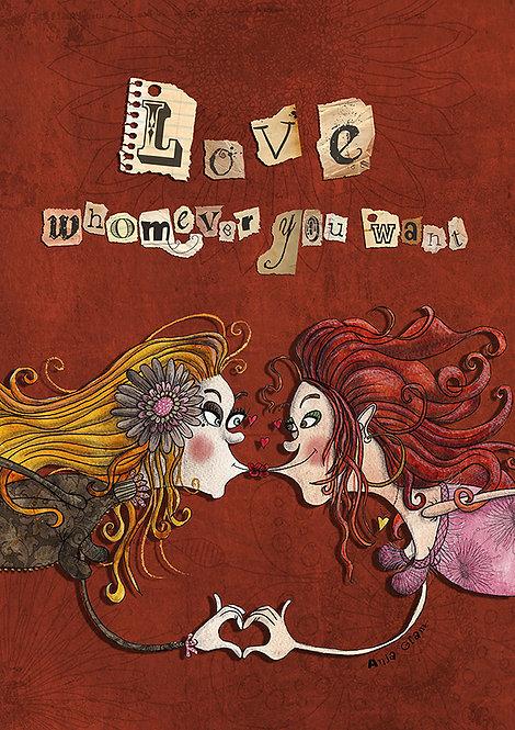 """Love whomever you want"" lesbian"